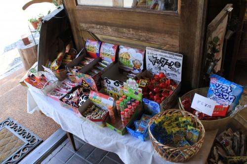 大人は懐かしい、子供は初めて見る駄菓子が売っています。