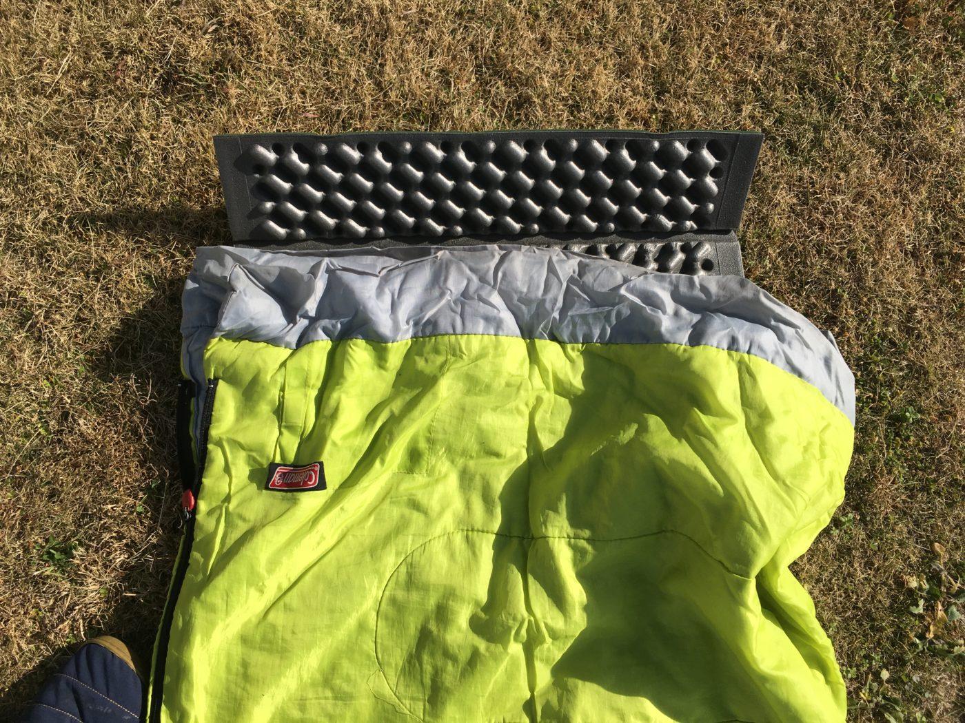 暖かい時期に使う寝袋に多い、封筒型寝袋