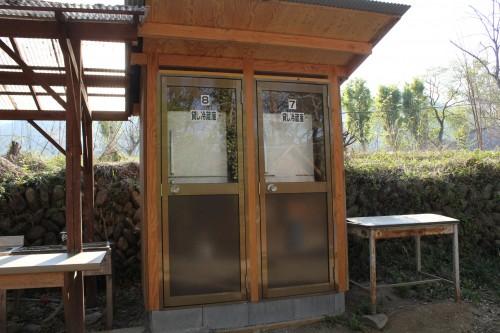 キャンプ場には珍しい貸し冷蔵庫があります。