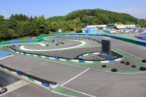 本格的なレーシングカートを楽しめます。大人が本気になる遊び