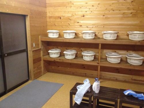 こっこランド那須の露天風呂に赤ちゃんベッドあり