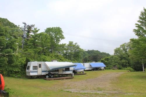 モービルコテージが人気のキャンプ場です。