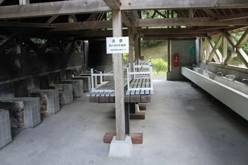松島町野外活動センターキャンプ場の炊事場の写真