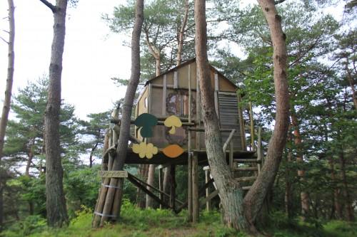 松島町野外活動センターキャンプ場のツリーハウスの写真