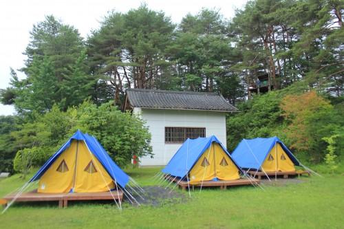 松島町野外活動センターキャンプ場の常設テントの写真