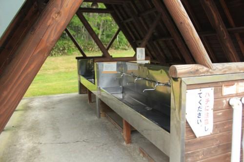 リンリン公園キャンプ場の炊事場の写真