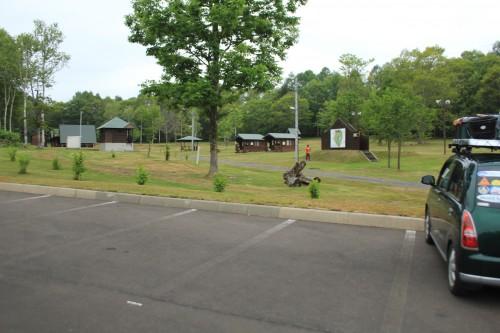 リンリン公園キャンプ場の駐車場の写真