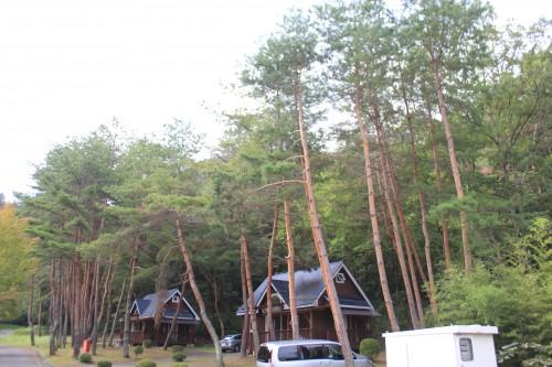 とくら沢ふれあい広場キャンプ場のコテージ