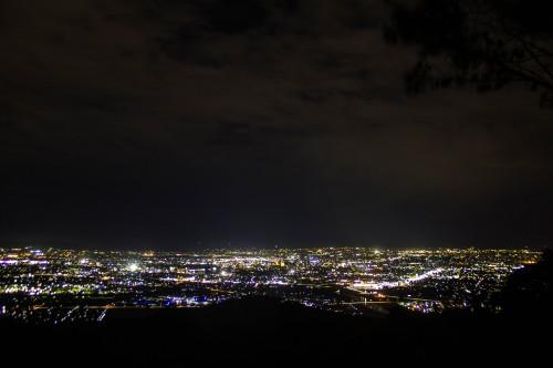 高岡二上山キャンプ場の夜景