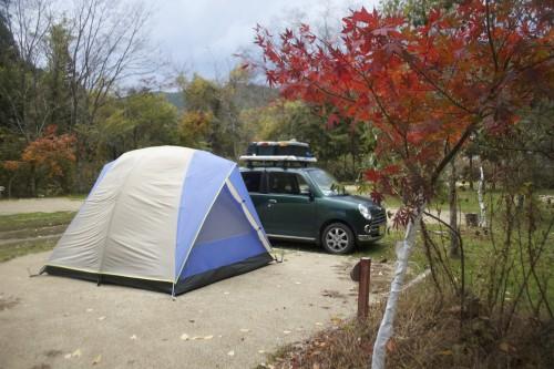 奈良県 白の平オートキャンプ場 2014年11月4日〜5日
