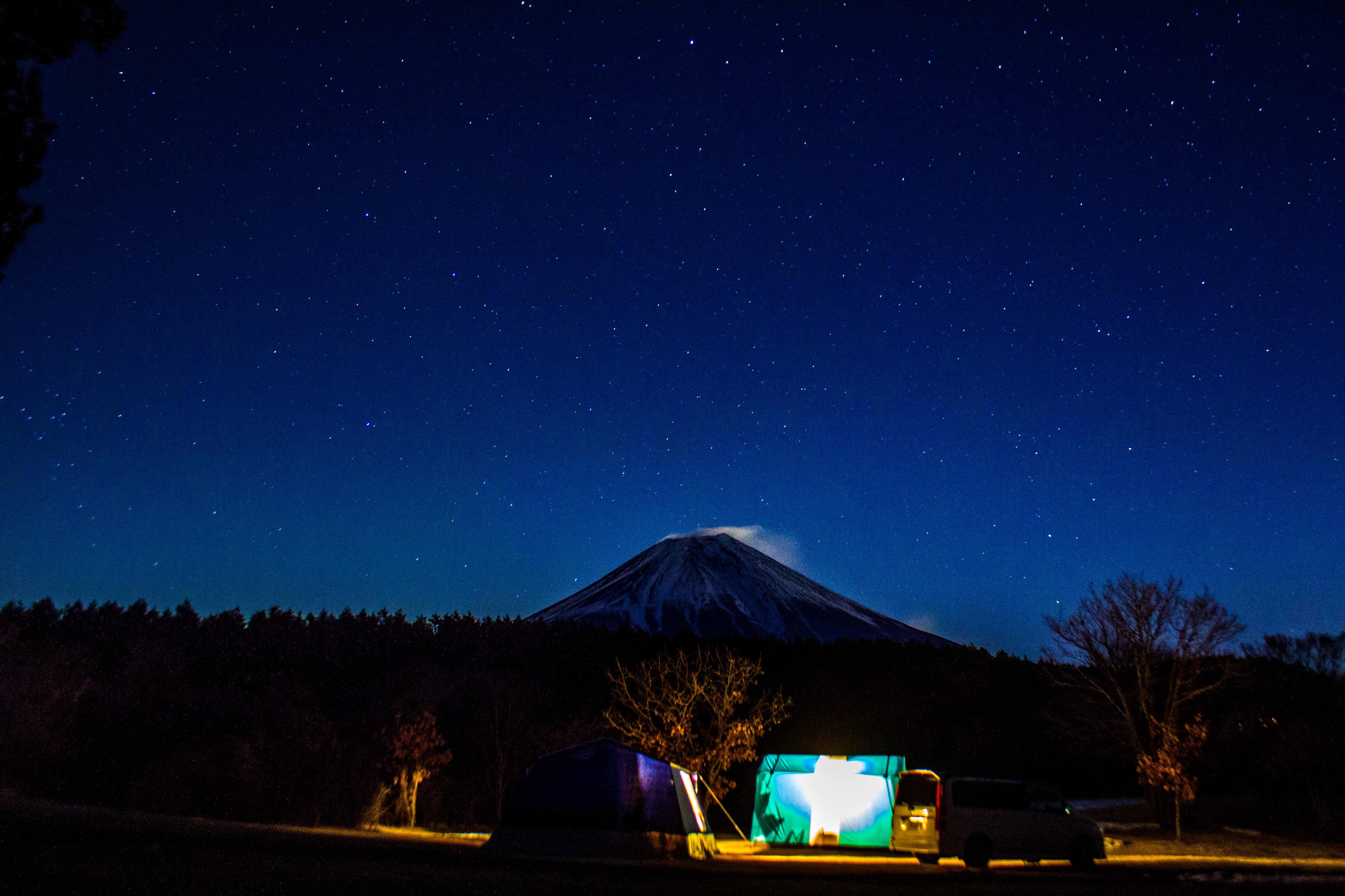 静岡県 朝霧ギャンボリーオートキャンプ場 2015年2月14日〜15日