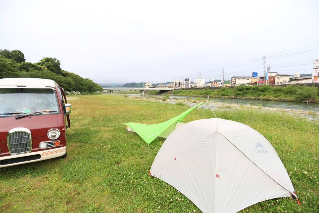 愛媛県 知清公園キャンプ場 2015年6月14日〜15日
