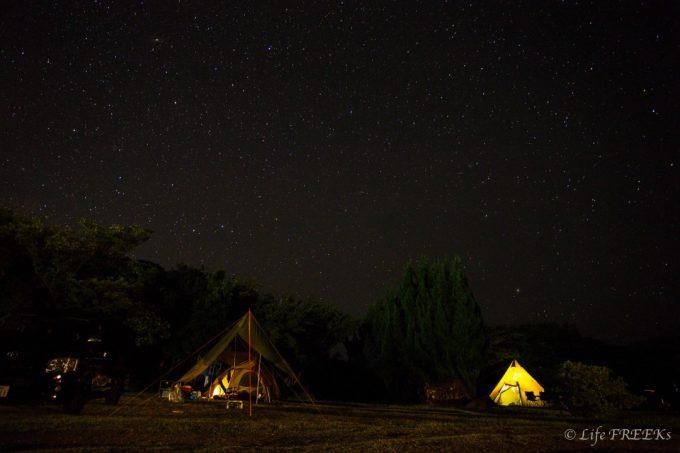 キャンプに来て満点の星空の下に寝転がって見ませんか?