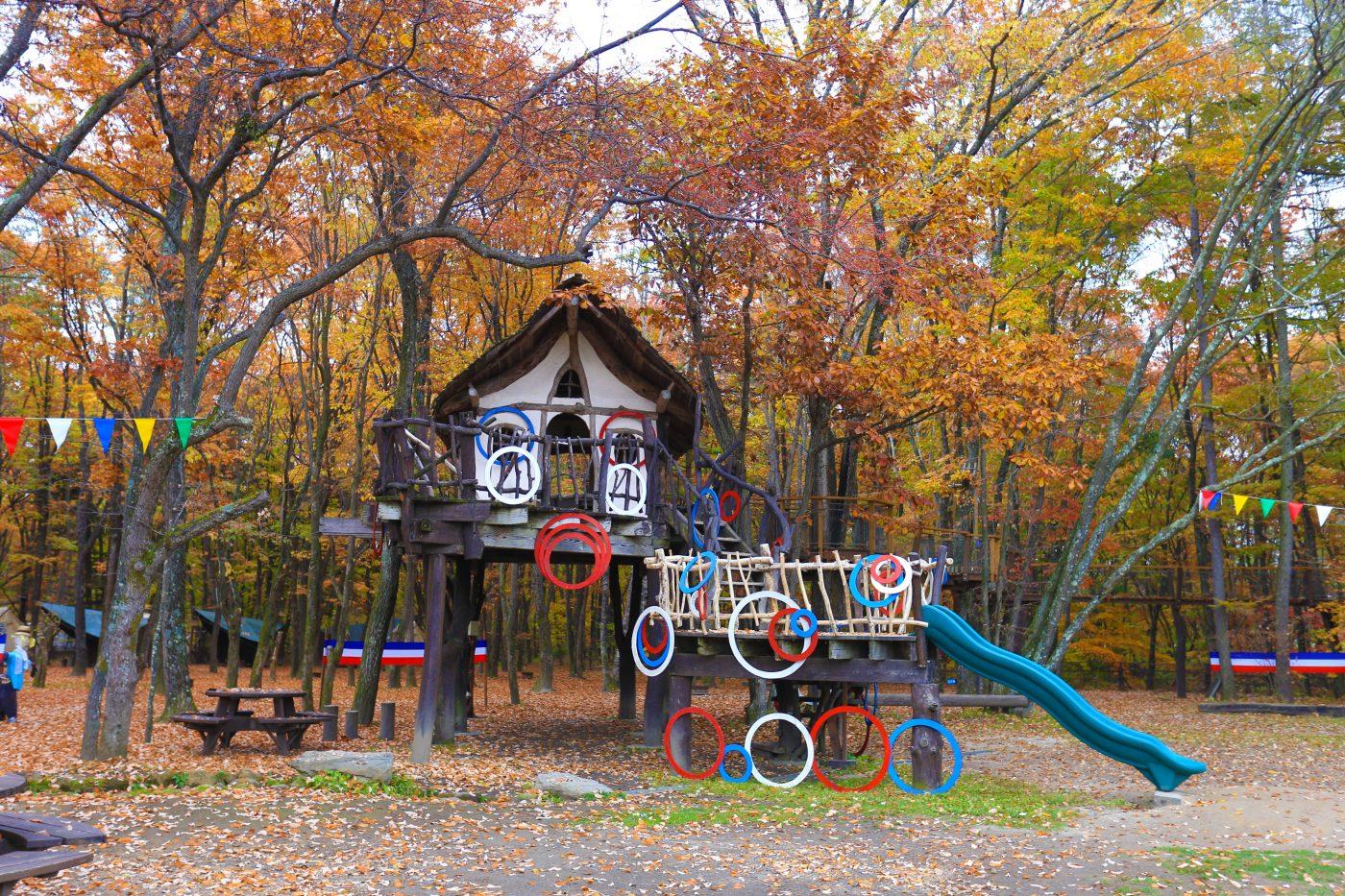 子供達とキャンプ場の施設で遊ぶのもいいですね。元気いっぱい遊びましょう。