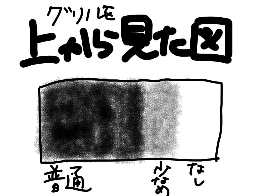 炭のゾーニング図