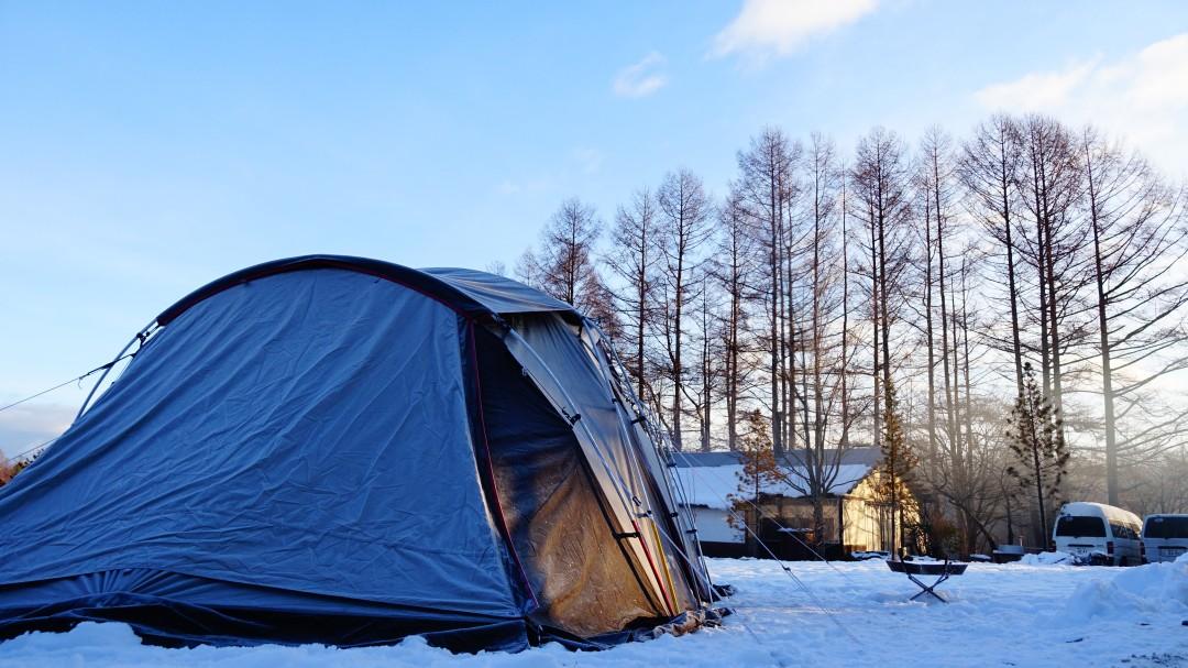 冬キャンプ、ツールームテント