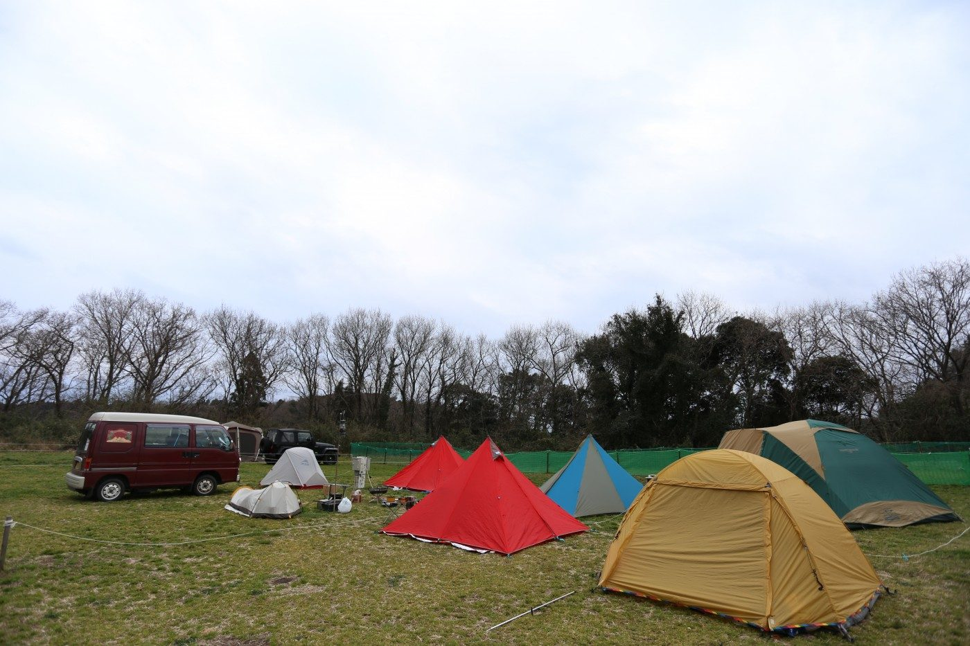成田ゆめ牧場のキャンプサイト