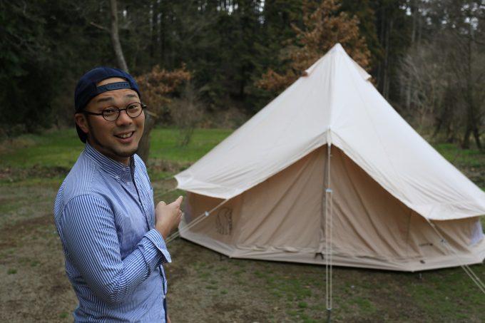 居住性の高いテントも寒い時期には活躍します。