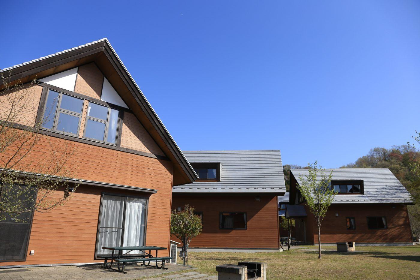 コテージは宿泊するための道具が一通り揃っている宿泊施設のこと。