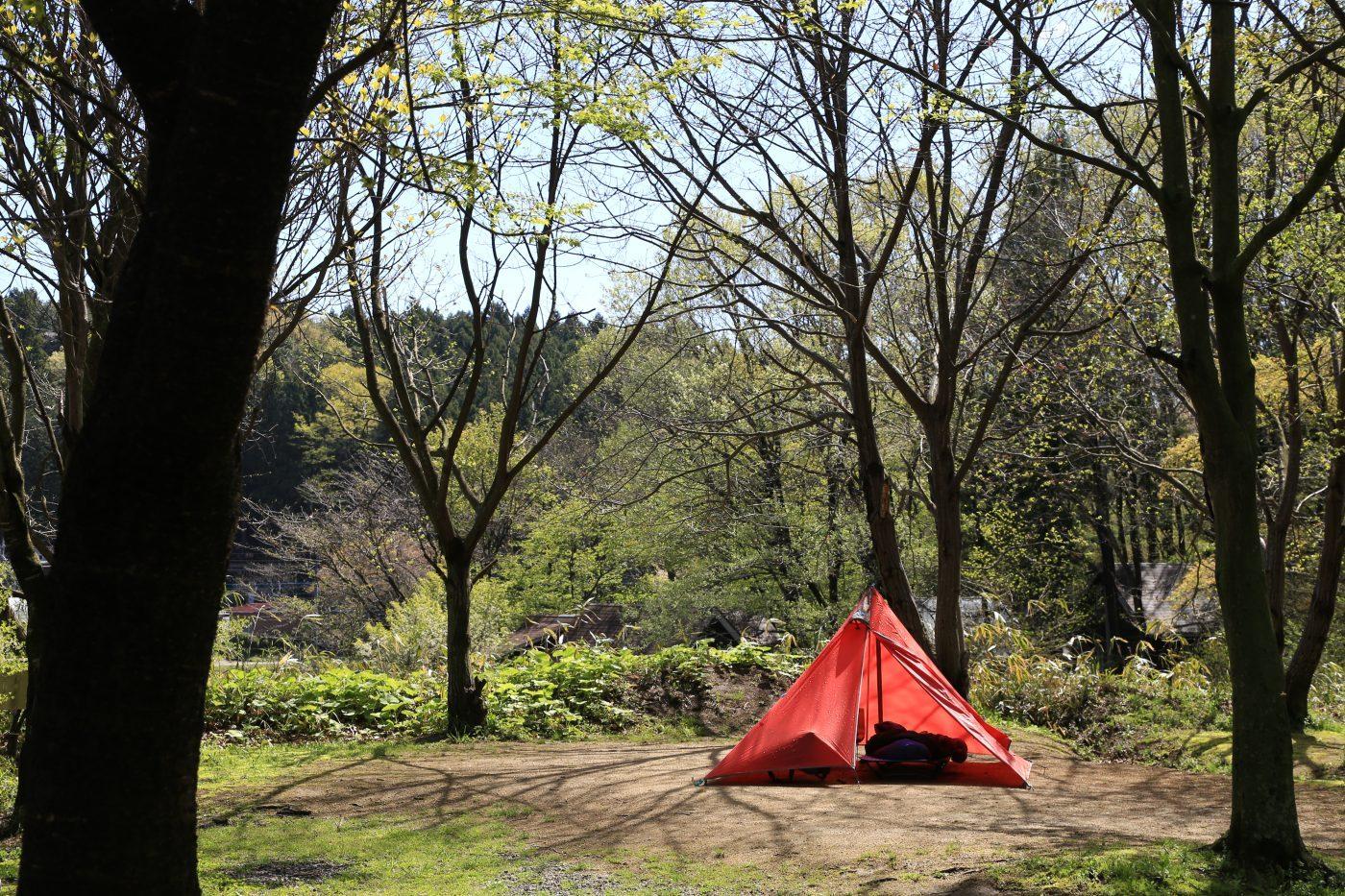サンタヒルズのキャンプサイト