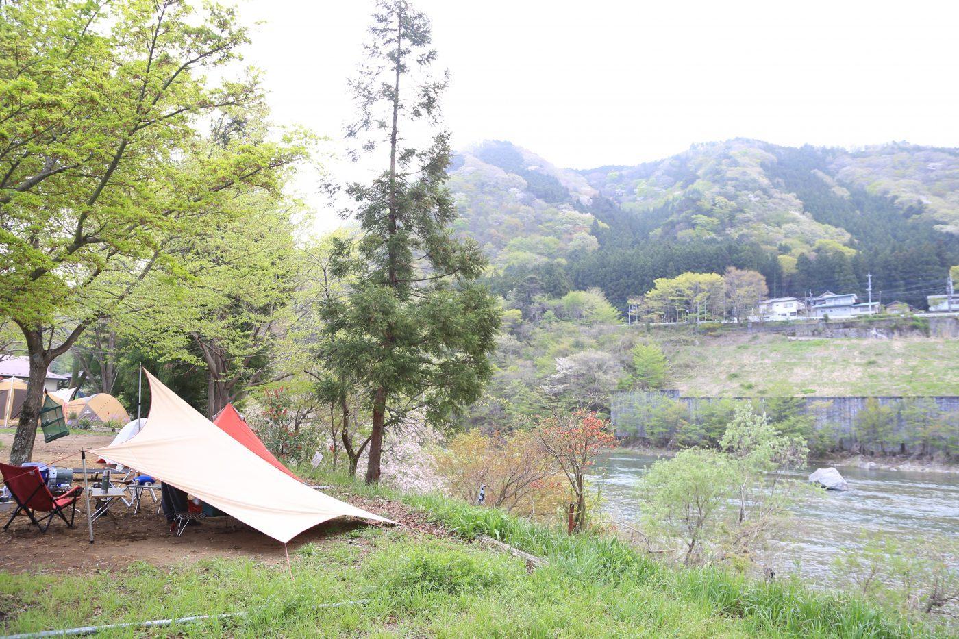 温泉付きキャンプ場 栃木県鬼怒川温泉オートキャンプ場 2016年4月23