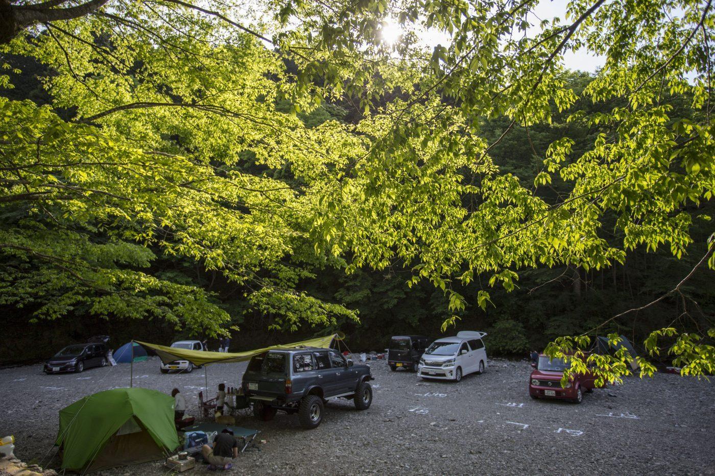 埼玉県にある古民家ファミリービレッジキャンプ/バーベキュー場の河原サイト