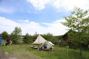 無印良品キャンプ場カンパーニャ嬬恋 2016年5月、CHUMS CAMPにて。