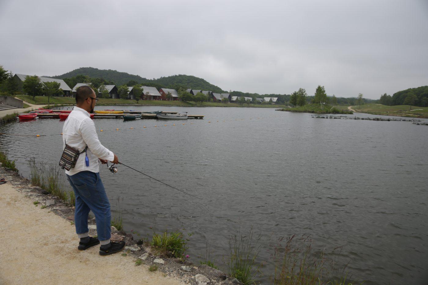 釣りを楽しめるキャンプ場に行く