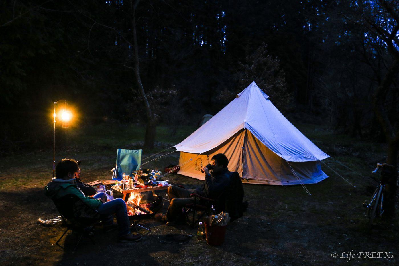 アスガルドだとワンランク上のキャンプの雰囲気にはなる