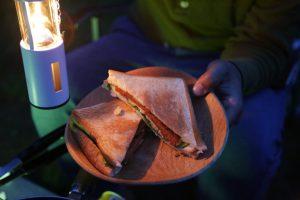 キャンプ料理の代表格【ホットサンド】だけど、スパムを使ったら旨かった。