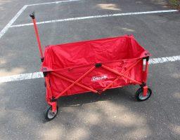 【レビュー】キャンプ道具運びはこれ!コールマン アウトドアワゴンはソロからファミリーまで使えます。