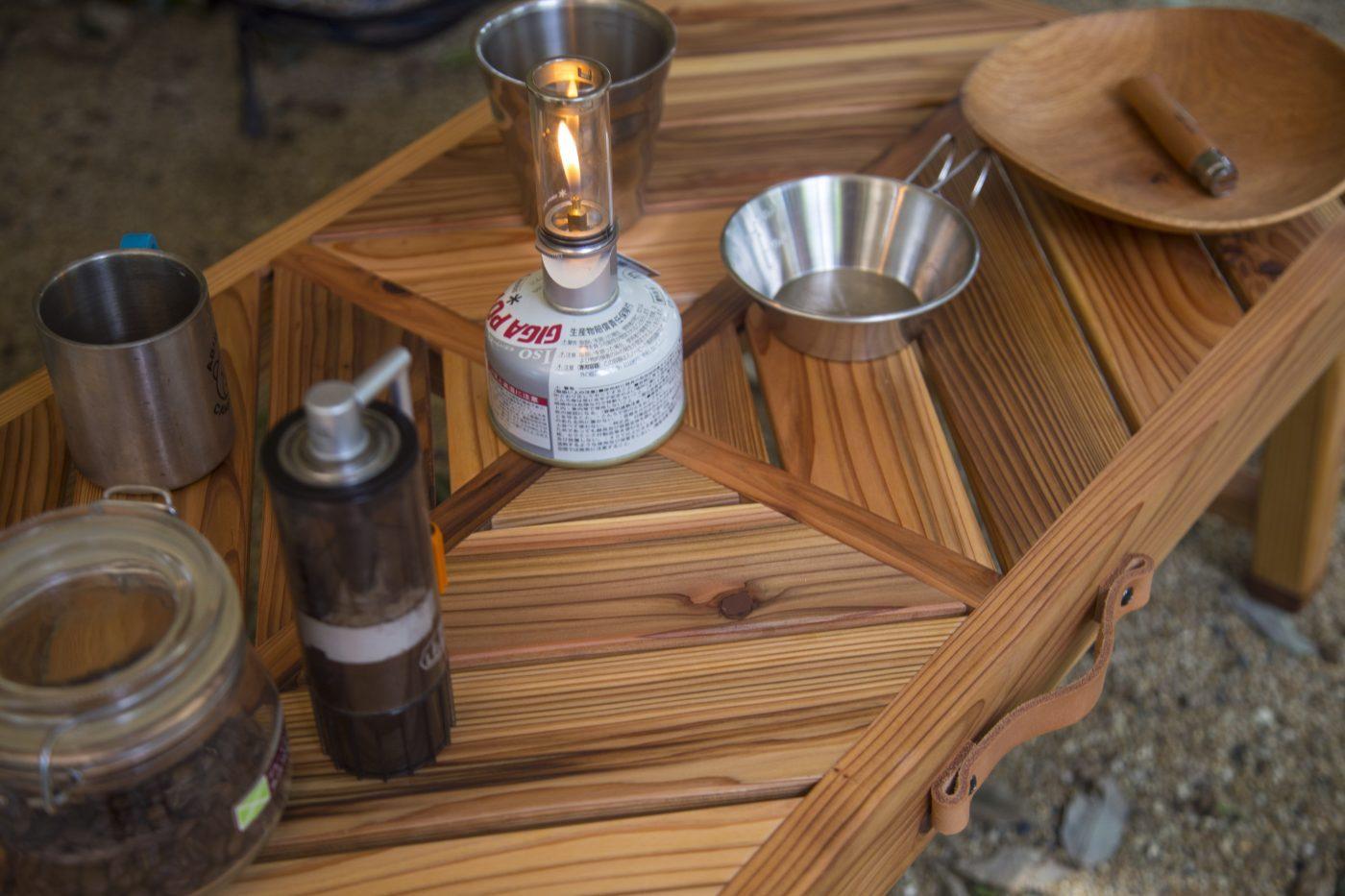 kokazeのテーブルはキャンプにオススメ