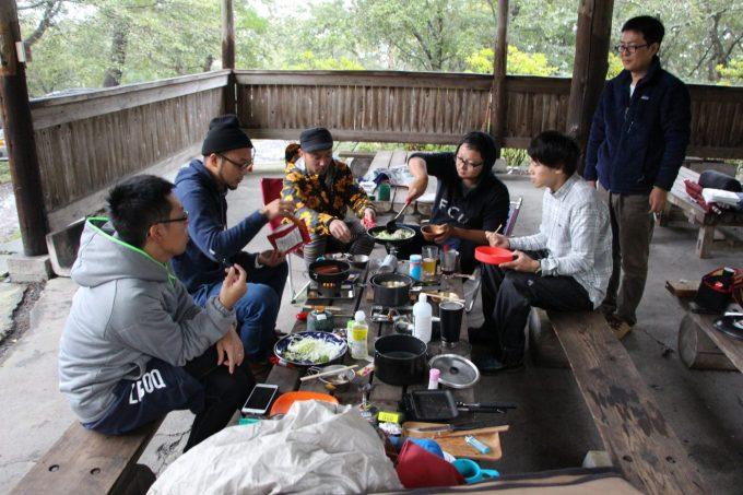 花見ヶ原森林公園キャンプ場でのオフ会の様子