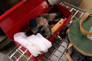 キャンプには拭き取り用の布やタオルを2枚準備しておくとすごく便利。