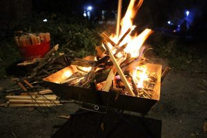 【初心者向け】焚き火するときは細かい薪や枝を準備しましょう。