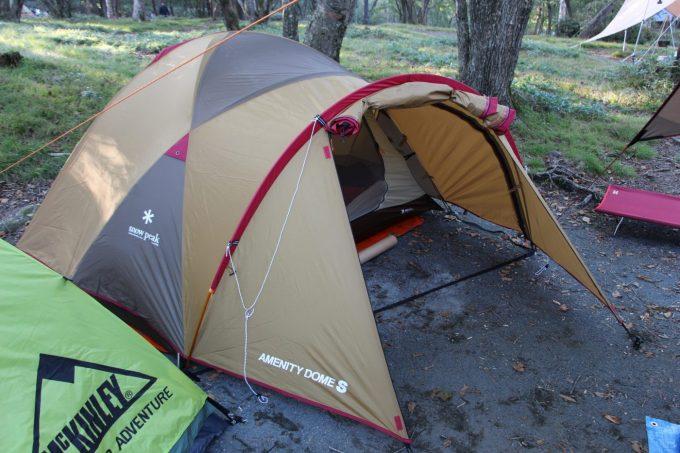 オススメのテントはアメニティードームS