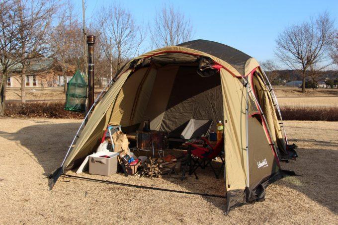 シュナーベル5は夏でも快適に過ごせる2ルームテント