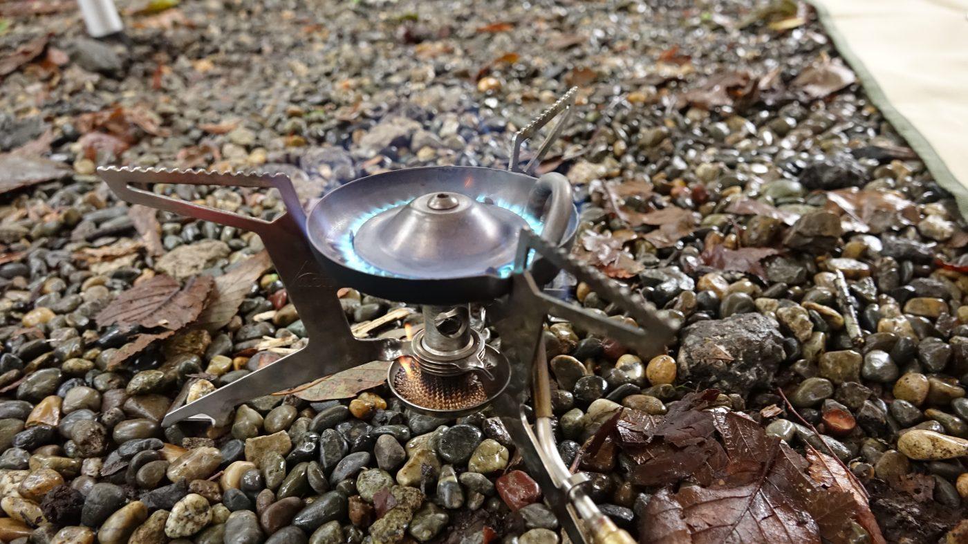 プレヒートがうまくいくと、このように青い炎が出るようになります。