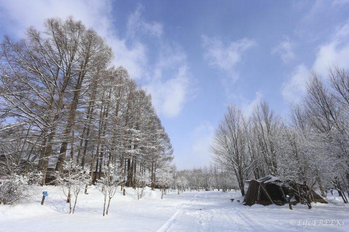 冬キャンプを手軽に楽しみましょう。