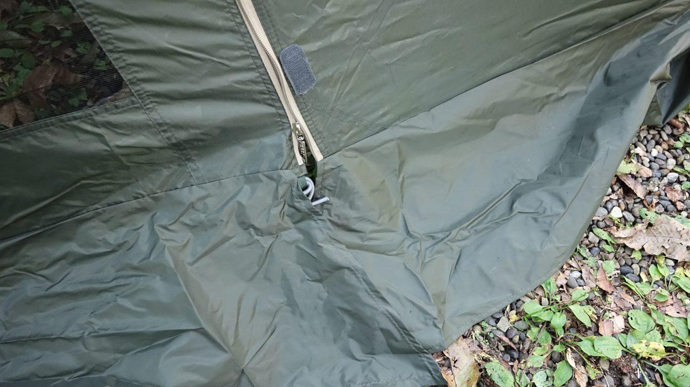 スカート付きで風の侵入を防いでくれます。