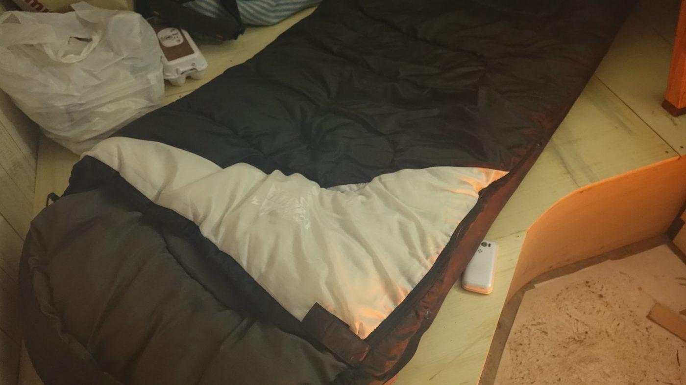 マミー型と封筒型の間の子のような寝袋