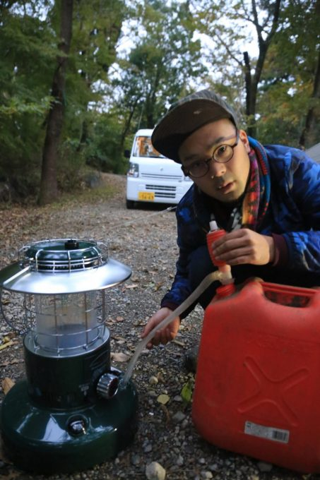 キャンプで使う灯油ストーブ