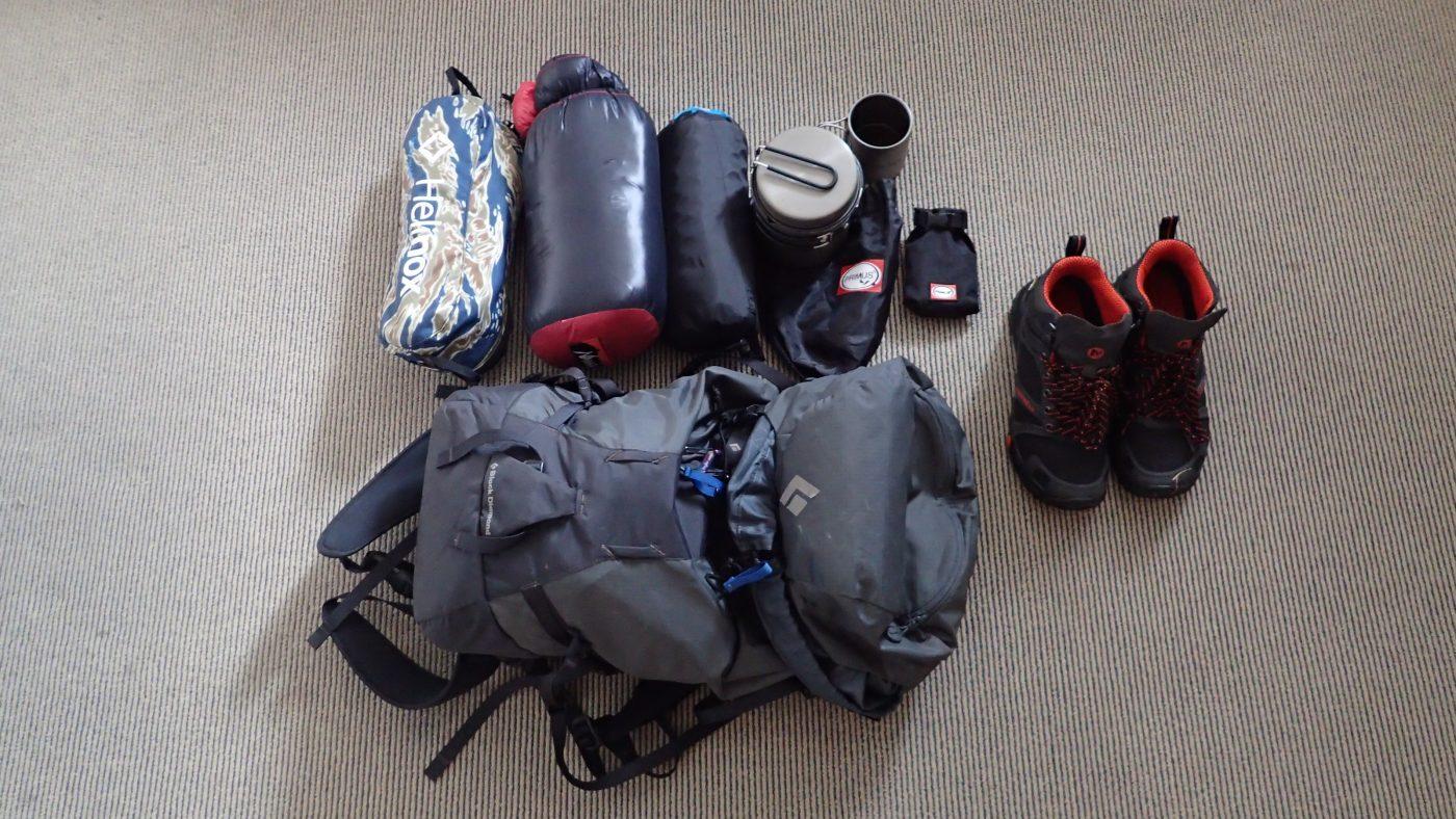 ニュージーランドに持ち込んだキャンプ道具