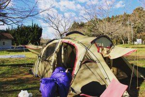 チェックアウトまでに2ルームテントを乾かす方法