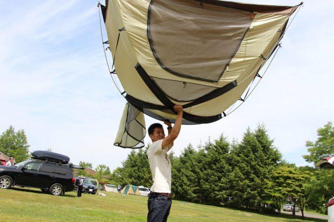 ガルボのテントの乾かし方。
