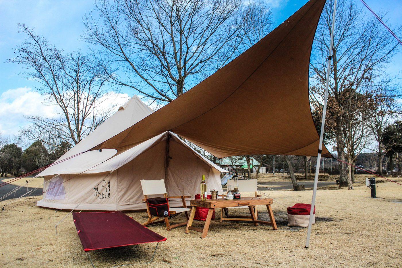 アスガルドとムササビタープでキャンプ