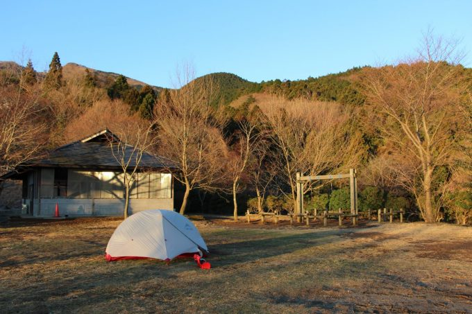 テントは湿気が残るので乾燥させる