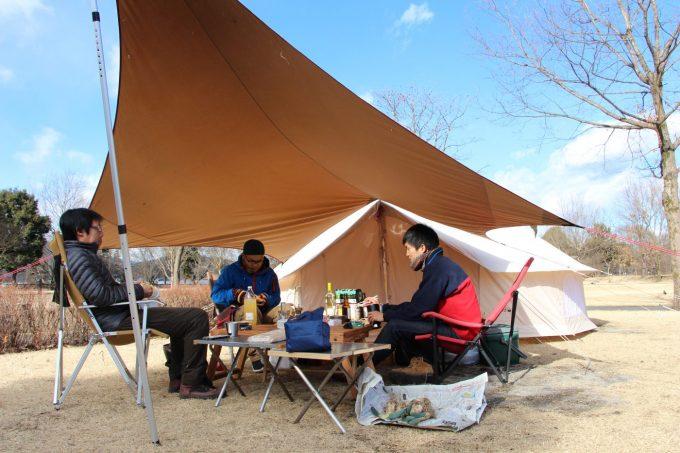 冬キャンプ、オフ会の様子
