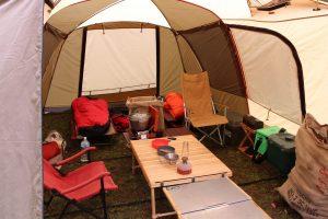 雨の日のキャンプでも撤収日晴れていれば意外と快適な件について