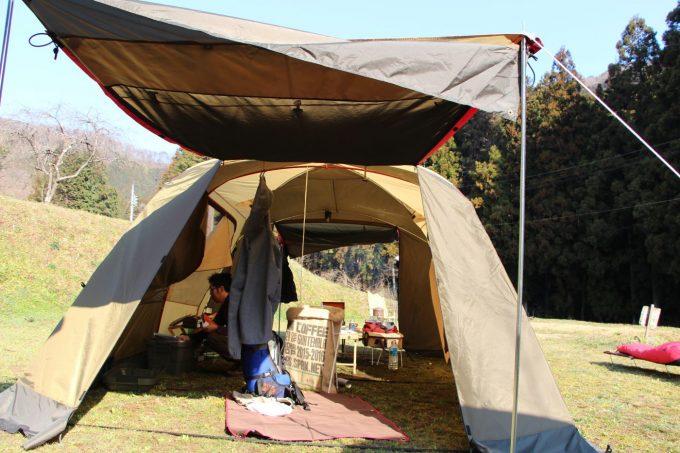 雨の日のキャンプでも次の日晴れて入れば快適